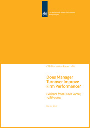 Image for Does Manager Turnover Improve Firm Performance?  Evidence from Dutch Soccer, 1986-2004