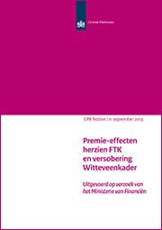 Image for Premie-effecten herzien FTK en versobering Witteveenkader