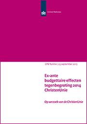 Image for Tegenbegroting 2014 van de ChristenUnie