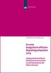 Image for Ex-ante budgettaire effecten Begrotingsafspraken 2014