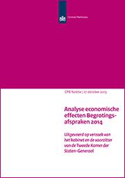 Image for Analyse economische effecten Begrotingsafspraken 2014
