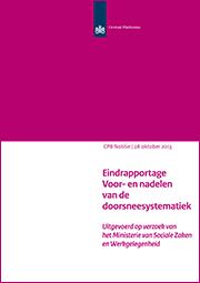 Image for Eindrapportage 'Voor- en nadelen van de doorsneesystematiek'