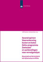 Image for Second opinion Voorverkenning kosten en baten Deltaprogramma Zoetwater en aanbevelingen voor vervolganalyse