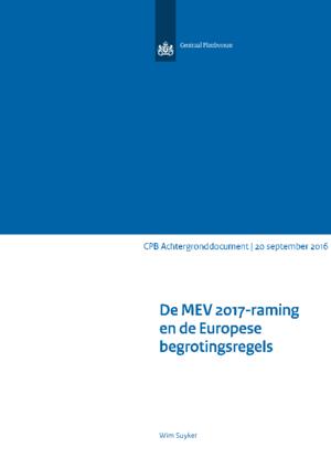 De MEV2017-raming en de Europese begrotingsregels