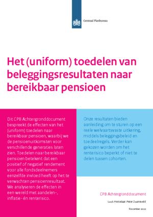 Het (uniform) toedelen van beleggingsresultaten naar bereikbaar pensioen