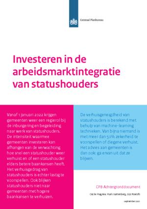 Investeren in de arbeidsmarktintegratie van statushouders, achtergronddocument