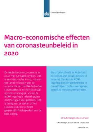 Macro-economische effecten van coronasteunbeleid in 2020
