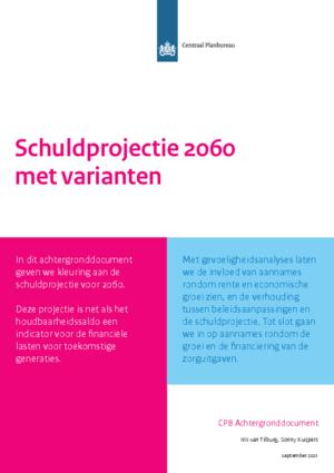 Schuldprojectie 2060 met varianten