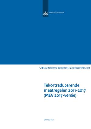 Tekortreducerende maatregelen 2011-2017 (MEV2017-versie)