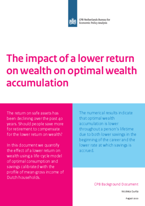 The impact of a lower return on wealth on optimal wealth accumulation