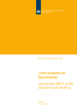 Love conquers all but nicotine; spousal peer effects on the decision to quit smoking