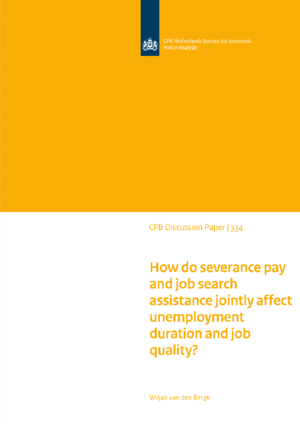 How do severance pay and job search assistance jointly affect unemployment duration and job quality?