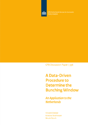 A Data-Driven Procedure to Determine the Bunching Window - An Application to the Netherlands