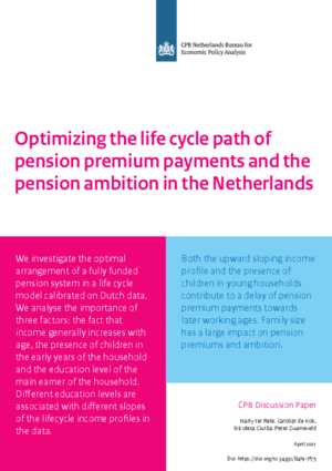 Optimizing the life cycle path of pension premium payments and the pension ambition in the Netherlands