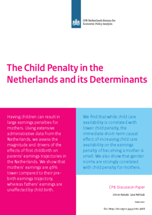 The Child Penalty in the Netherlands and its Determinants