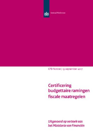 Certificering budgettaire ramingen fiscale maatregelen