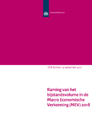Raming van het bijstandsvolume in de MEV 2018