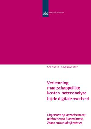 Verkenning maatschappelijke kosten-batenanalyse bij de digitale overheid