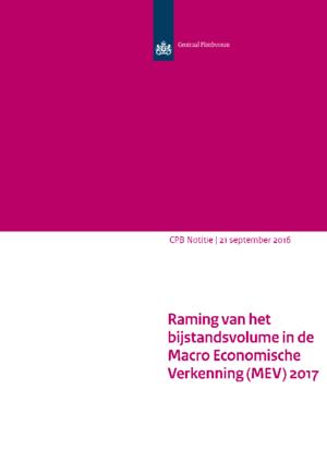 Raming van het bijstandsvolume in de MEV 2017