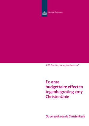 Tegenbegroting 2017 van de ChristenUnie
