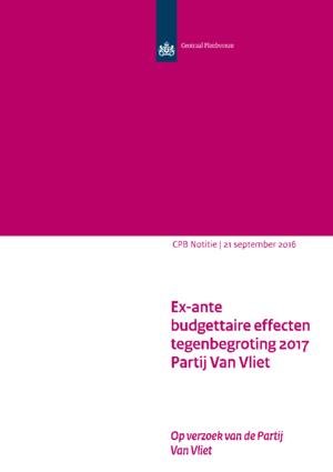 Tegenbegroting 2017 van de Partij Van Vliet