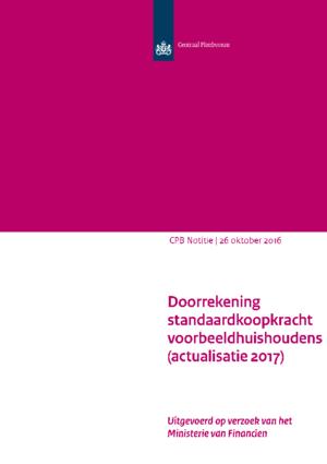 Doorrekening standaardkoopkracht voorbeeldhuishoudens (actualisatie 2017)