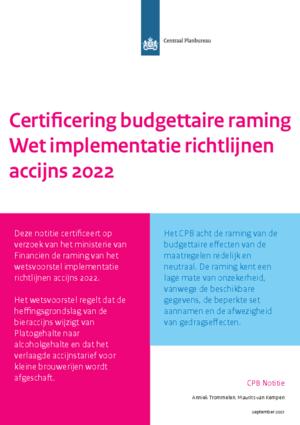 Certificering budgettaire raming Wet implementatie richtlijnen accijns 2022