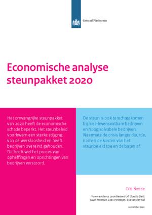 Economische analyse steunpakket 2020