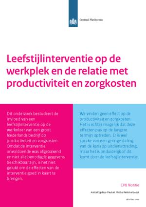 Leefstijlinterventie op de werkplek en de relatie met productiviteit en zorgkosten