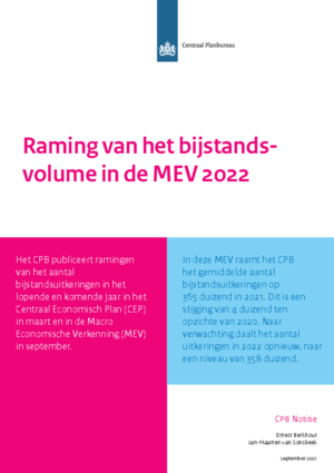 Raming van het bijstandsvolume in de MEV 2022