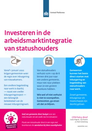 Investeren in de arbeidsmarktintegratie van statushouders