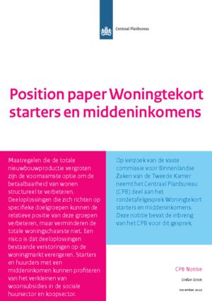 Position Paper Woningtekort starters en middeninkomens