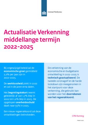 Actualisatie Verkenning middellange termijn 2022-2025 (maart 2021)