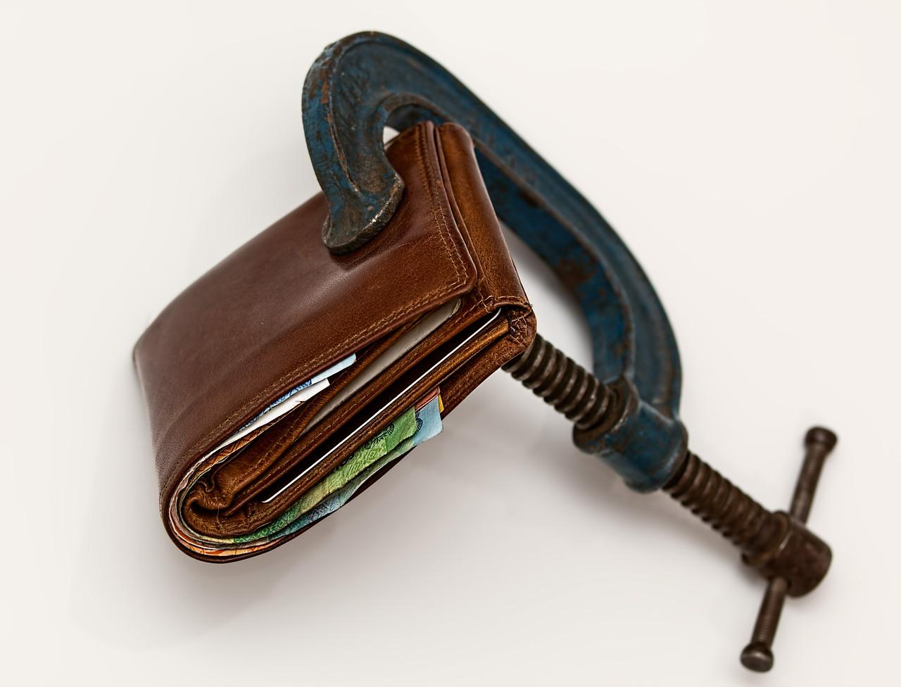 Portemonnee met bankschroef