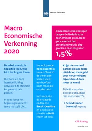 Macro Economische Verkenning  2020