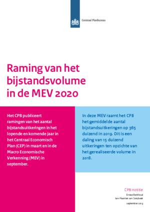 Raming van het bijstandsvolume in de MEV 2020