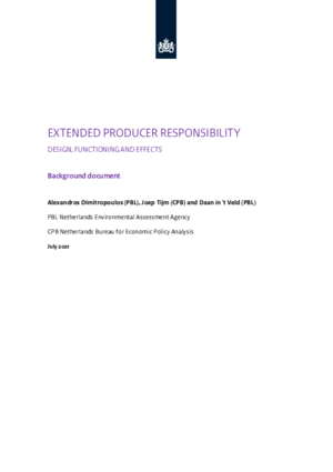 Extended producer responsibility: design, functioning and effects