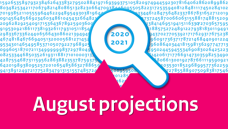 Image for August projections 2020-2021