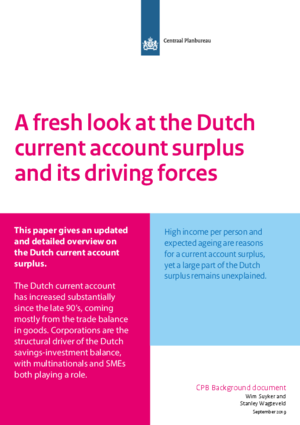 A fresh look at the Dutch current account surplus and its driving forces