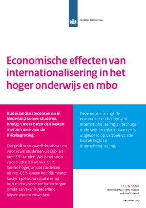 De economische effecten van internationalisering in het hoger onderwijs en mbo