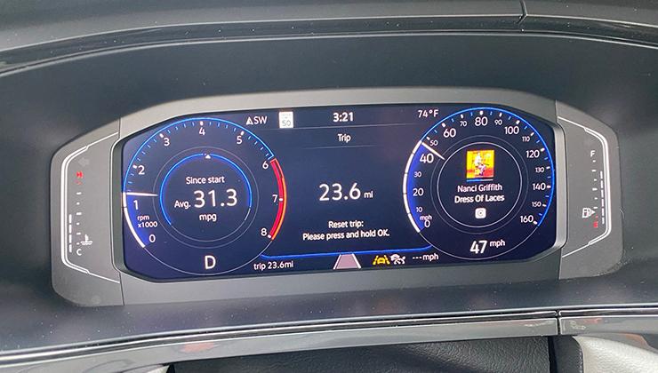foto van een dashboard