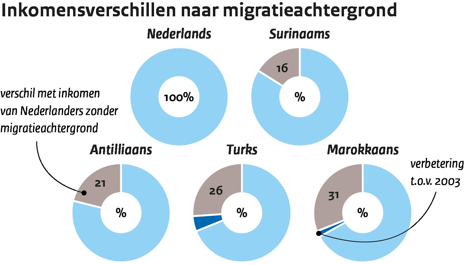 Image Inkomensongelijkheid naar migratieachtergrond
