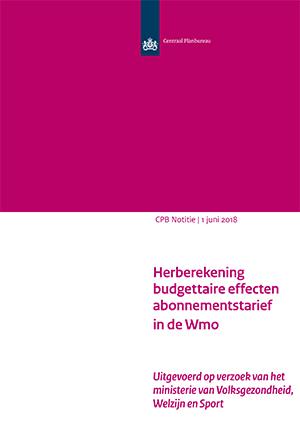 Herberekening budgettaire effecten abonnementstarief in de Wmo