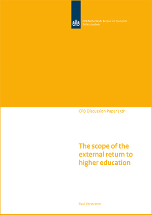 The scope of the external return to higher education