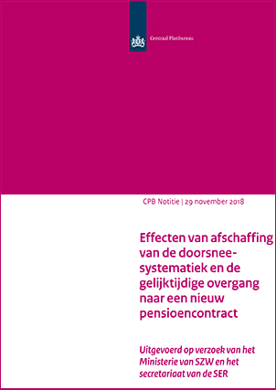 Effecten van afschaffing van de doorsneesystematiek en de gelijktijdige overgang naar een nieuw pensioencontract