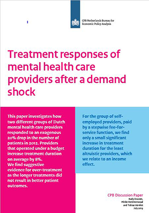 Treatment responses of mental health care providers after a demand shock