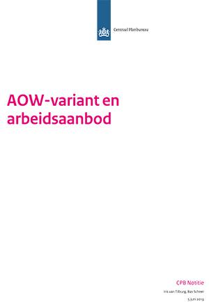 AOW-variant en arbeidsaanbodprognose