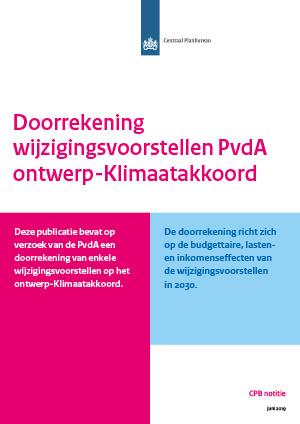 Doorrekening wijzigingsvoorstellen PvdA ontwerp-Klimaatakkoord