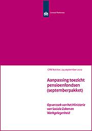 Image for Aanpassing toezicht pensioenfondsen (septemberpakket)