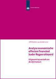 Image for Analyse economische effecten financieel kader Regeerakkoord